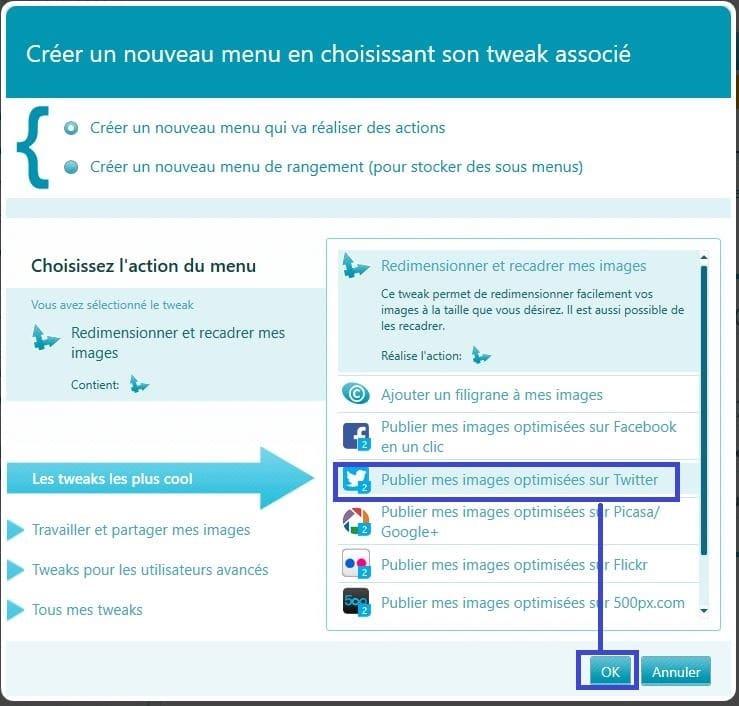CoolTweak : redimensionnez, marquez et partagez vos photos tutoriel h
