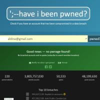 Vérifiez si votre mail est concerné par l'une des cyberattaques recensées avec Haveibeenpwned.com