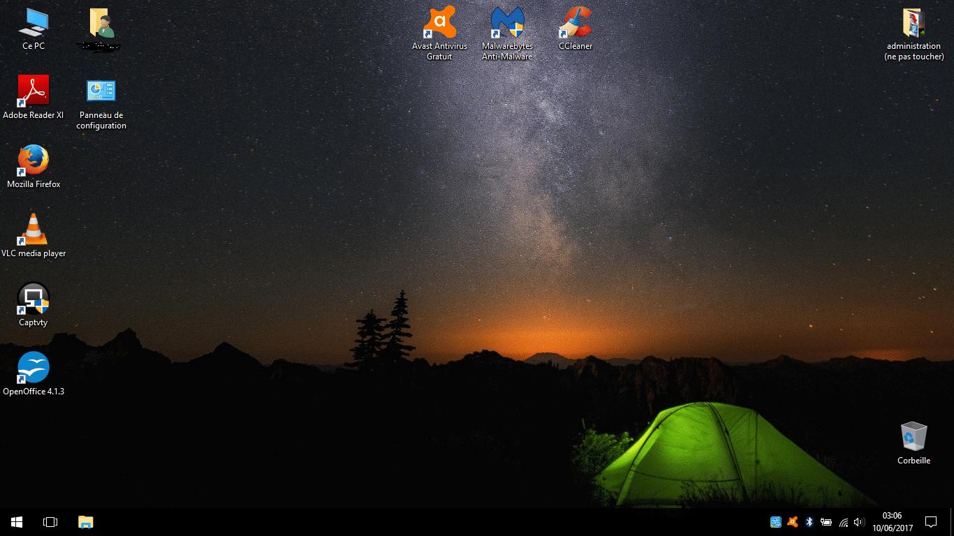 windows 10 ultra portable bureau logiciels