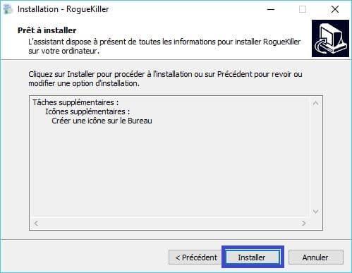 RogueKiller installation 6