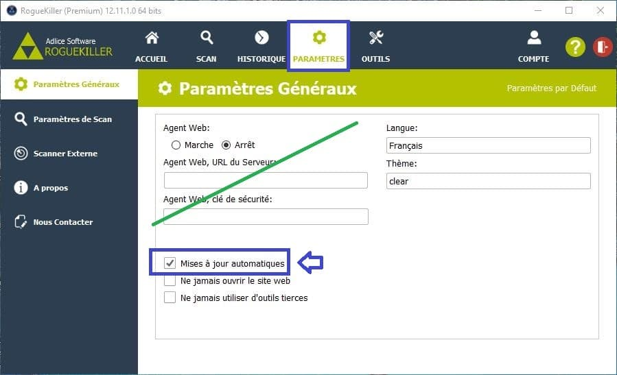 RogueKiller utilisation paramétrages premium 2