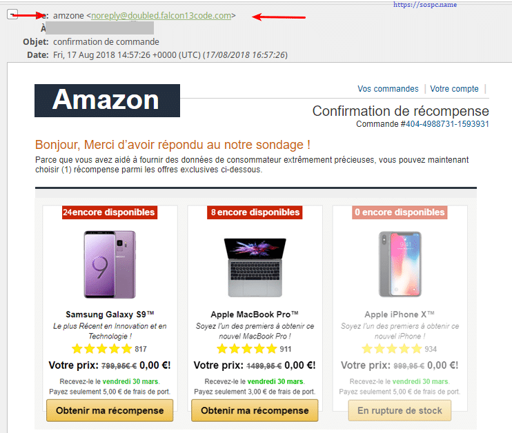 Attention aux faux mails d'Amazon