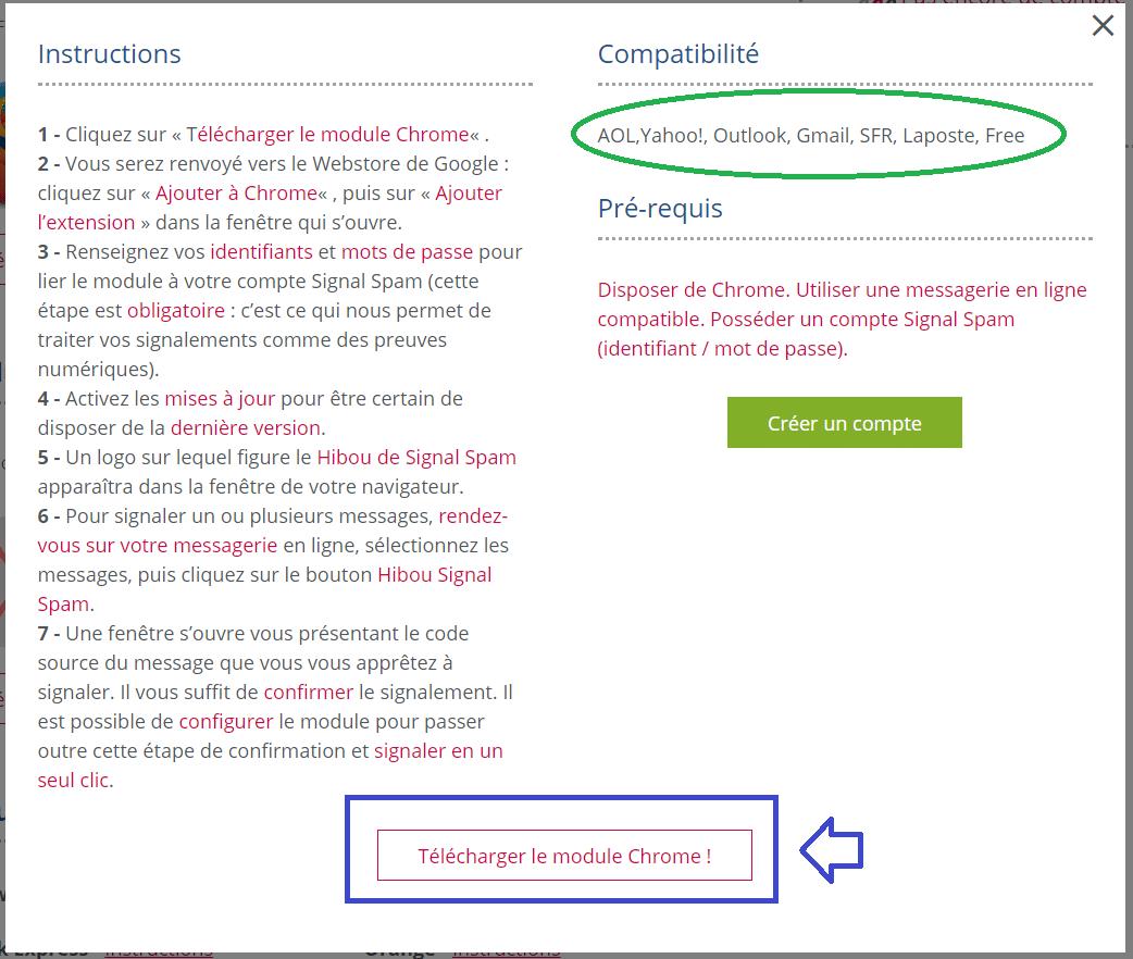 signal-spam extensions tutoriel