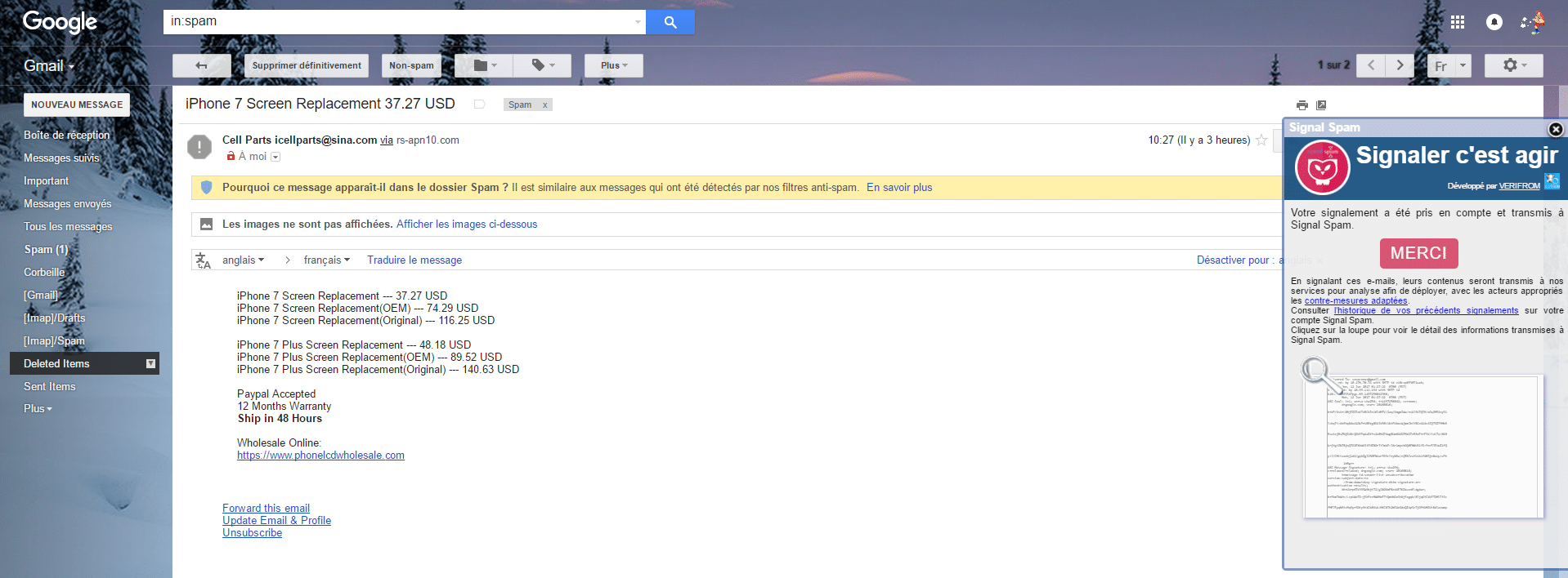 signal-spam gmail messagerie