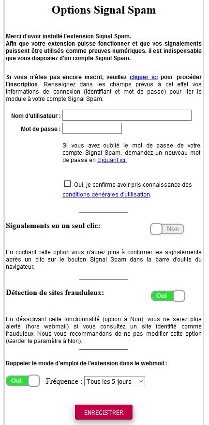 signal-spam installation extension firefox tuto sospc