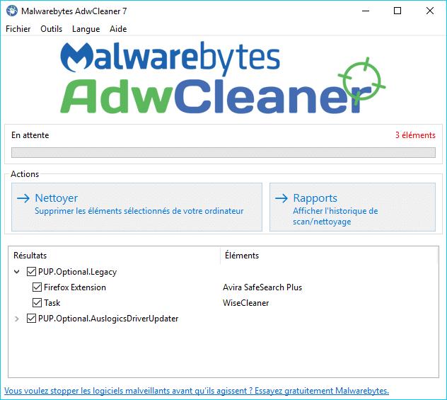 adwcleaner 7 tutoriel
