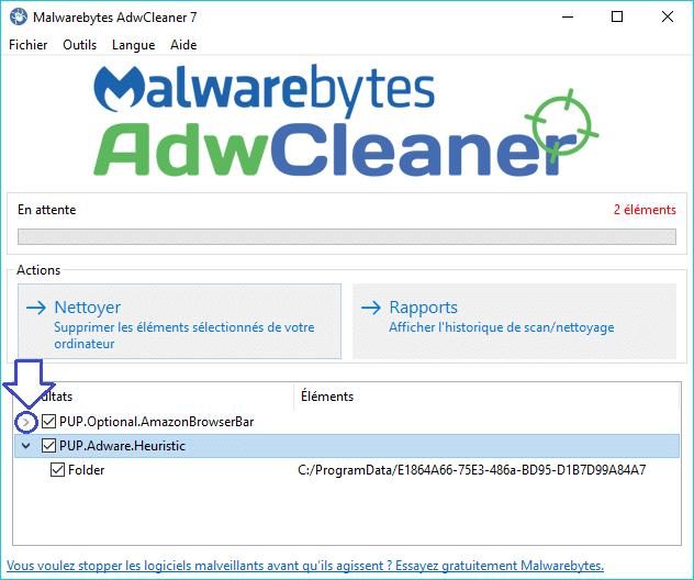 AdwCleaner 7 tutoriel détaillé sospc