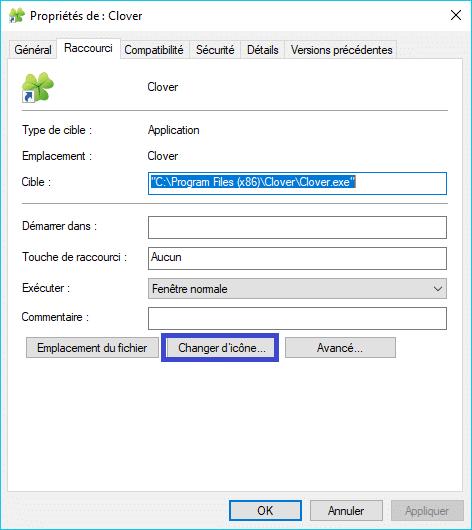 Clover : ajoutez des onglets à la fenêtre de l'explorateur de Windows changer icône trèfle