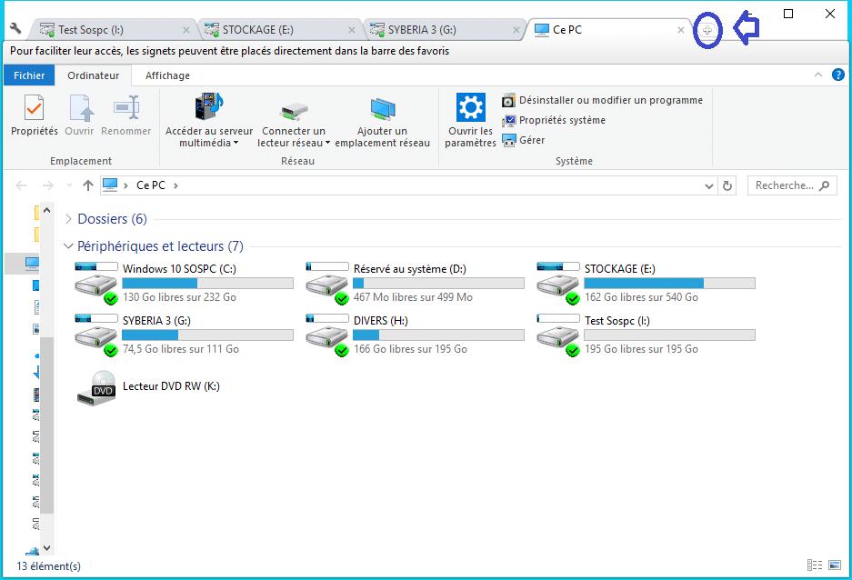 Clover ajoutez des onglets à la fenêtre de l'explorateur de Windows Utilisation 1