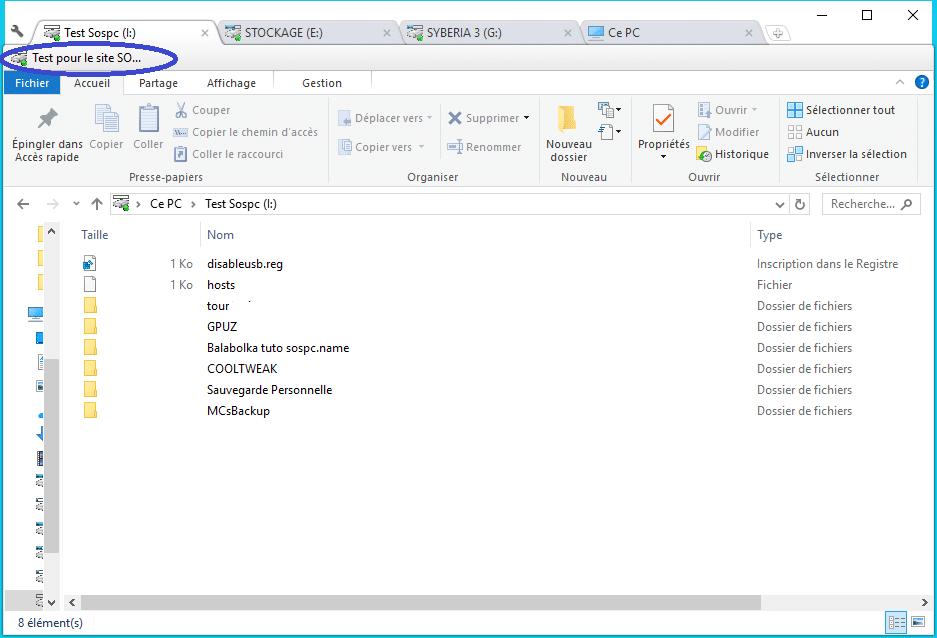 Clover ajoutez des onglets à la fenêtre de l'explorateur de Windows Utilisation 4