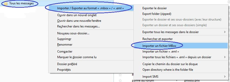 Gmail sauvegarder ses mails importation fichier mbox dans thunderbird 1