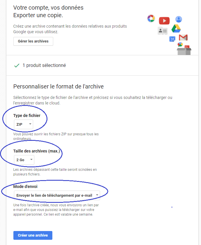 Gmail sauvegarder ses mails tutoriel TYPE D'archive