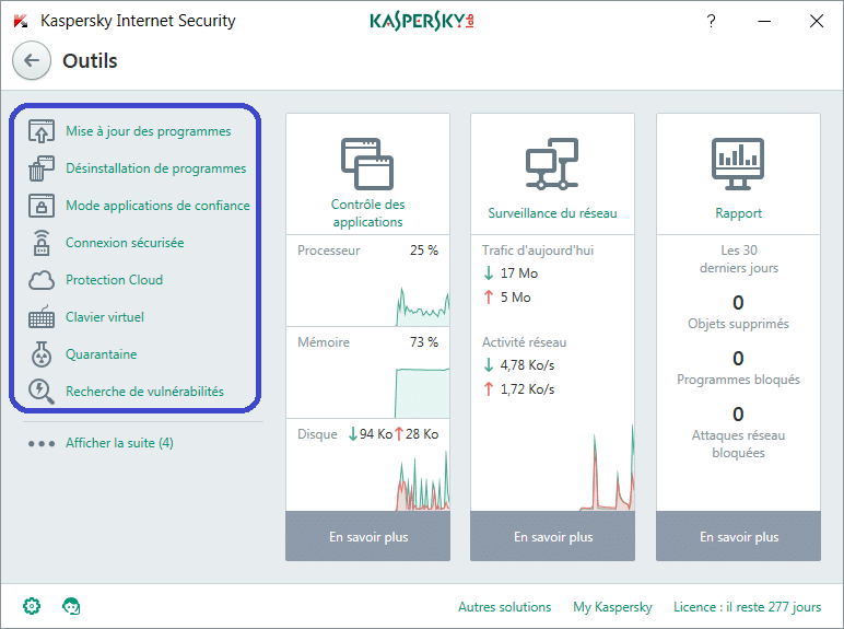 Installer et paramétrer Kaspersky Internet Security 2018 tutoriel complet X