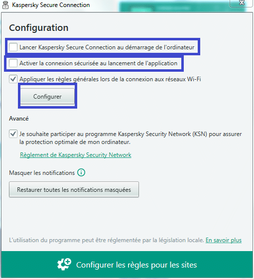 Paramétrer Kaspersky Internet Security 2018 tutoriel SOSPC.name 4