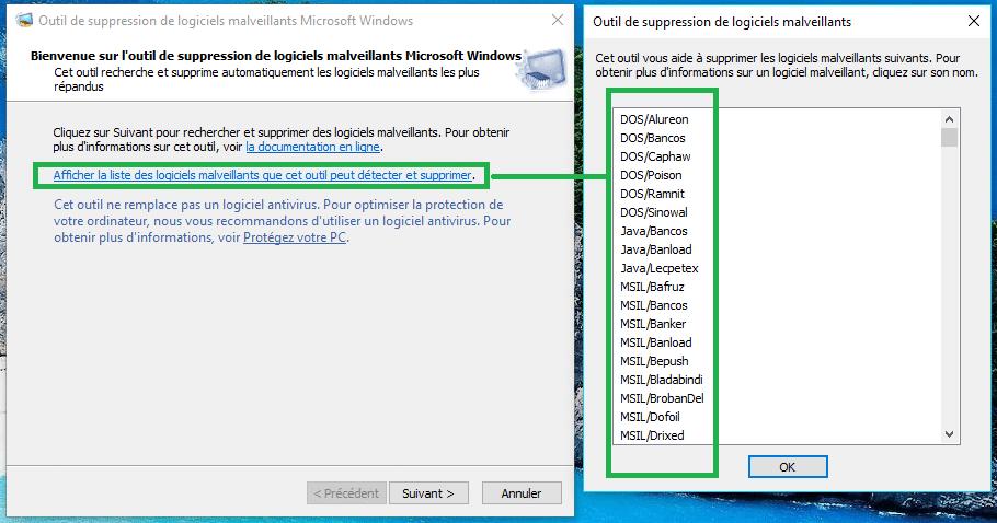 MSRT : outil de suppression de logiciels malveillants tutoriel 2