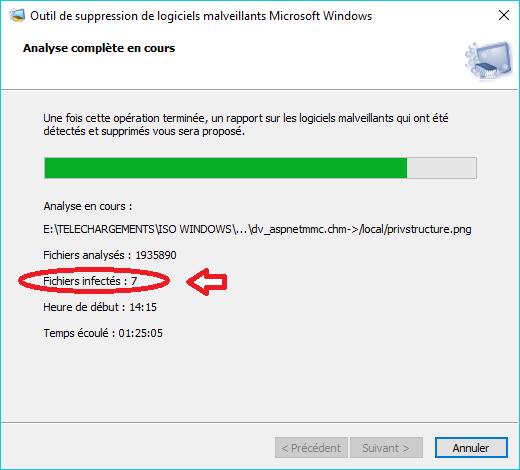 MSRT : outil de suppression de logiciels malveillants tutoriel 5