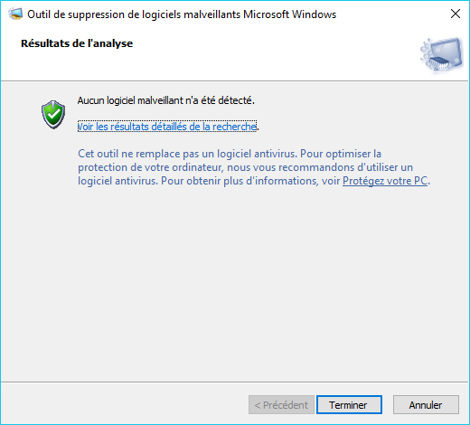 MSRT : outil de suppression de logiciels malveillants tutoriel 6