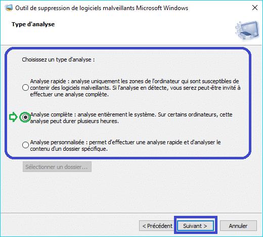 MSRT : outil de suppression de logiciels malveillants tutoriel 3