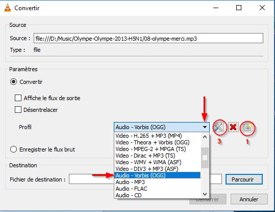 vlc convertir fichiers audio et vidéo 6