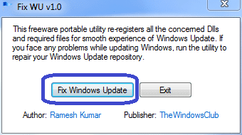 fix windows update tutoriel