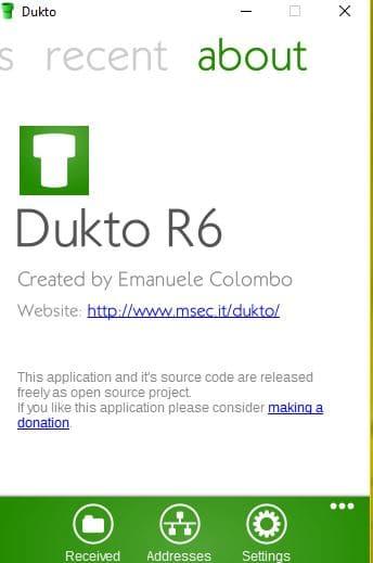 DUKTO : partagez facilement vos fichiers, photos ou musiques entre vos différents appareils locaux tutoriel 5