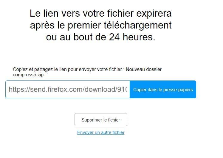 Firefox SEND nouveau service mozilla
