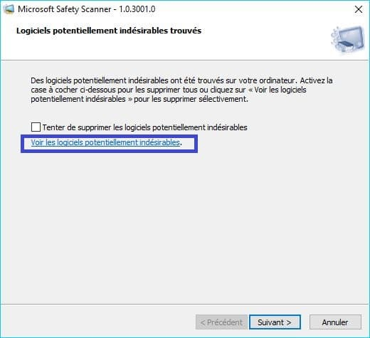Microsoft Safety Scanner tutoriel 9