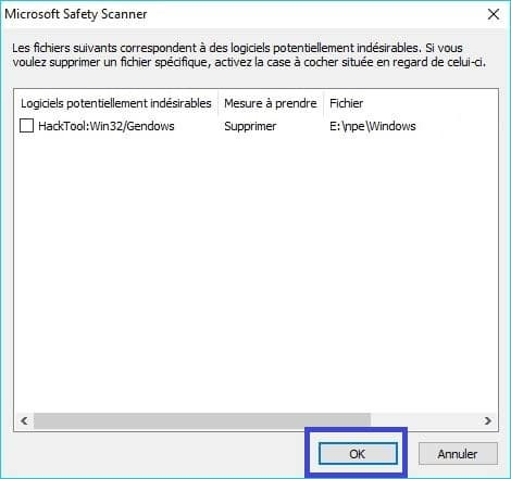 Microsoft Safety Scanner tutoriel 10