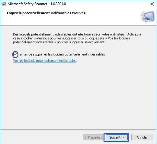 Microsoft Safety Scanner tutoriel 11