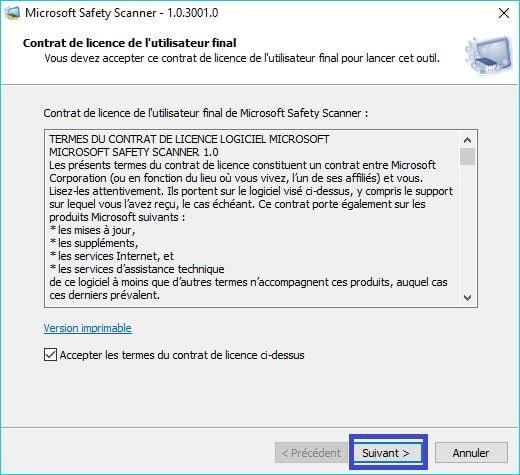 Microsoft Safety Scanner tutoriel 2