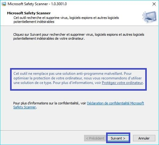 Microsoft Safety Scanner tutoriel 3