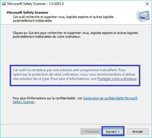 Microsoft Safety Scanner tutoriel 3