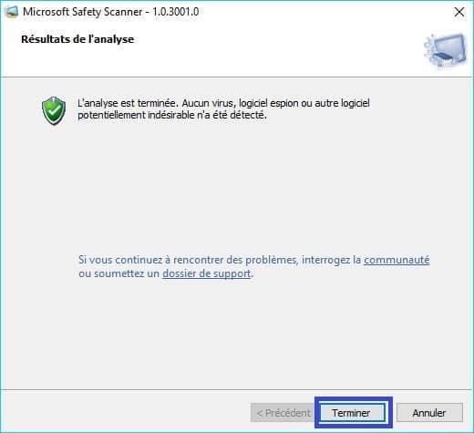 Microsoft Safety Scanner tutoriel 6