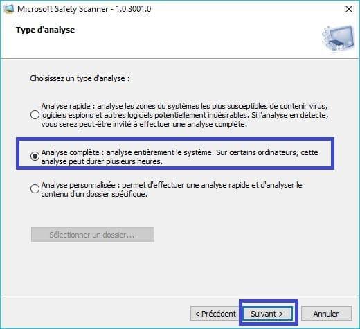 Microsoft Safety Scanner tutoriel 7