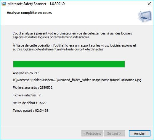 Microsoft Safety Scanner tutoriel 8