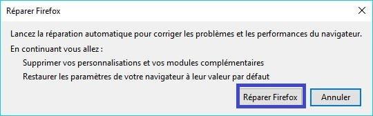 Comment Réparer Firefox. tutoriel 4