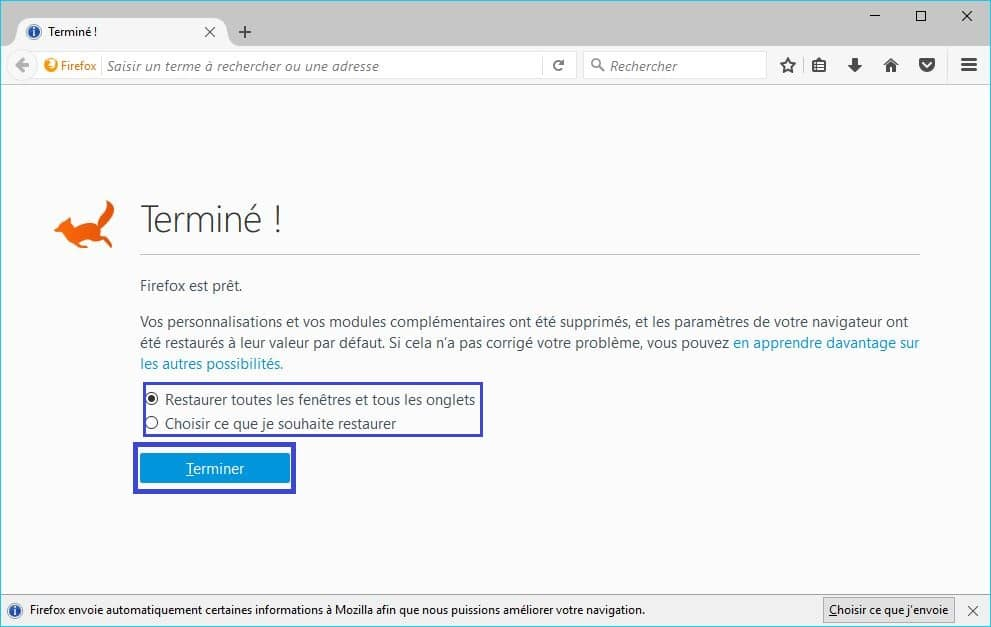 Comment Réparer Firefox. tutoriel 6