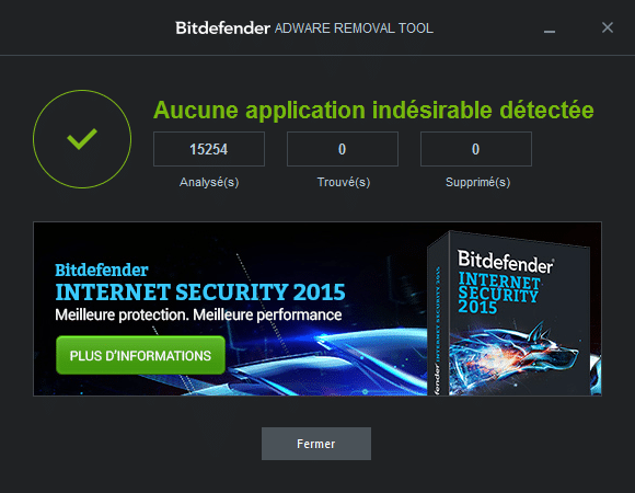 Bitdefender Adware Removal Tool TUTORIEL 5