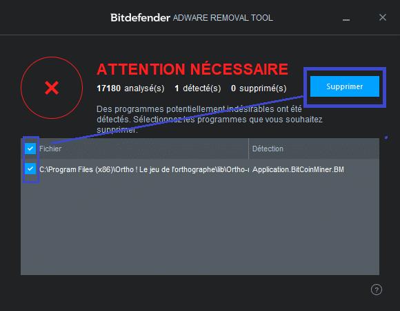 Bitdefender Adware Removal Tool TUTORIEL 7