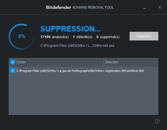 Bitdefender Adware Removal Tool TUTORIEL 8