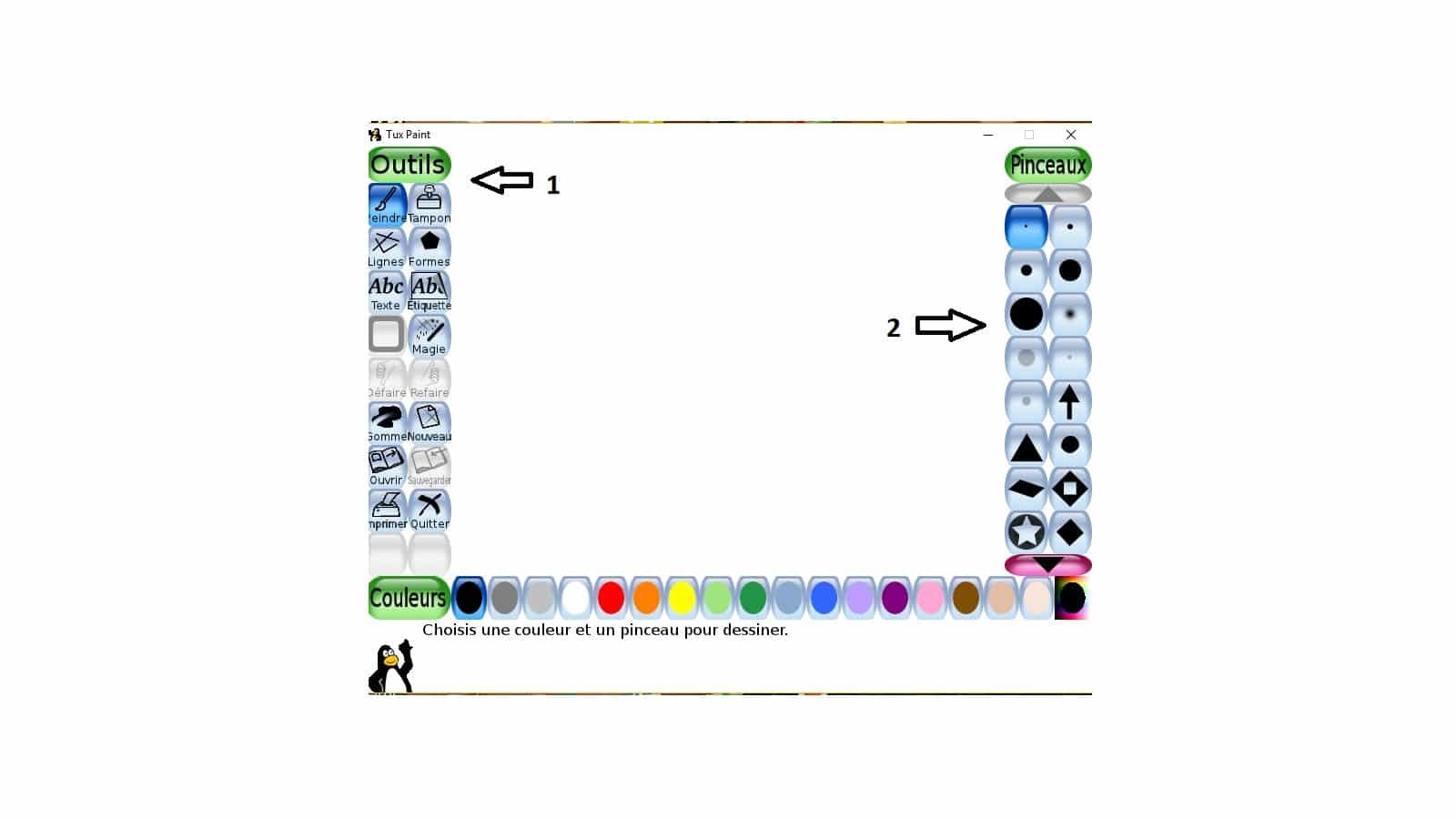 Tux Paint un logiciel de dessin utilisable dès l'age de 3 ans tutoriel 13