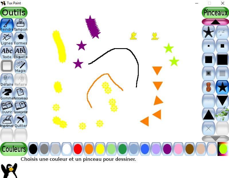 Tux Paint un logiciel de dessin utilisable dès l'age de 3 ans tutoriel 14