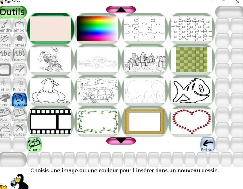 Tux Paint un logiciel de dessin utilisable dès l'age de 3 ans tutoriel 16