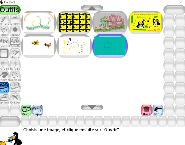 Tux Paint un logiciel de dessin utilisable dès l'age de 3 ans tutoriel 17