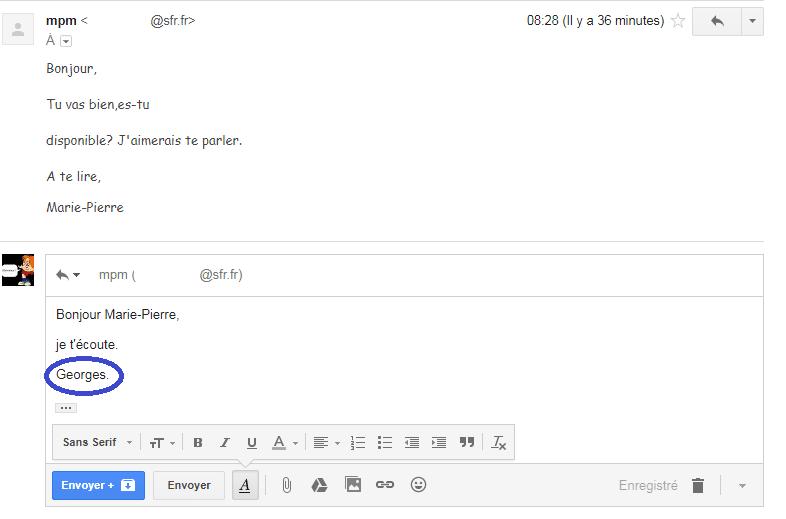 usurpateur boite mail piratée