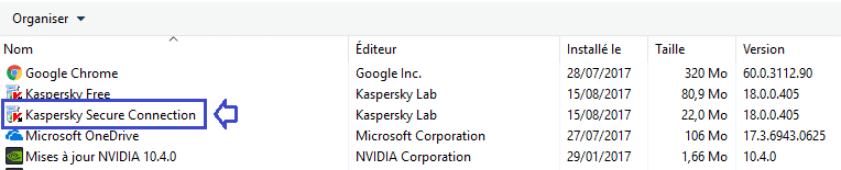 déinstaller module vpn