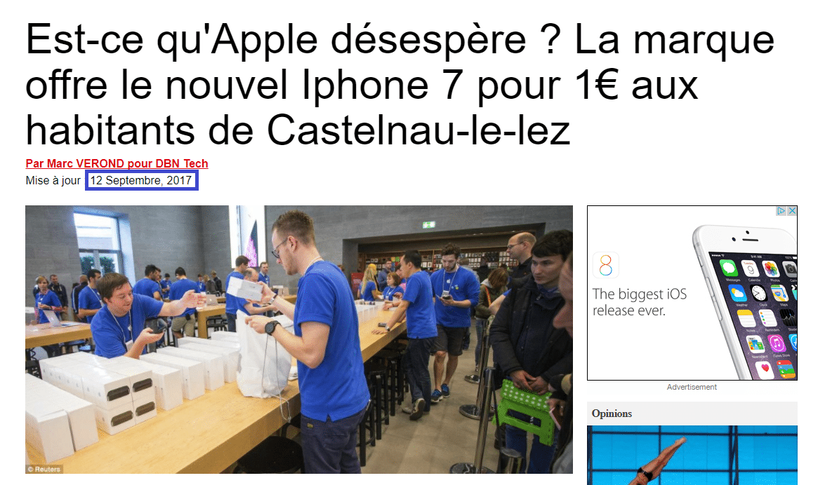 Attention à l'arnaque iPhone 7 à 1€ prélèvements abusifs