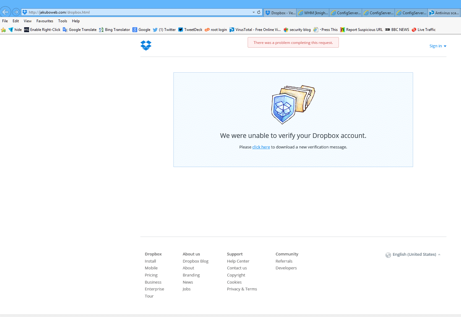 Attention aux faux mails de Dropbox 4