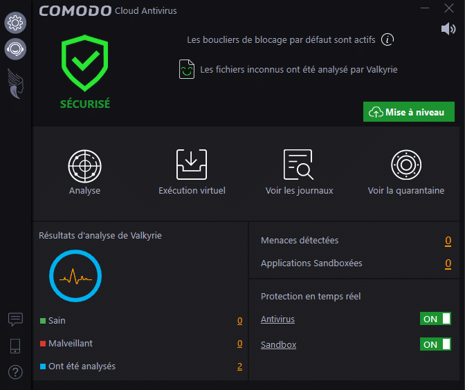 Comodo Cloud Antivirus tutoriel sospc 8