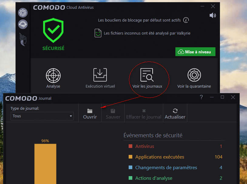 Comodo Cloud Antivirus tutoriel sospc 15